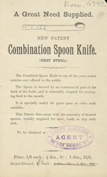 Advert For Henry Cameron, Novelty Cutlery